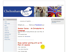 Tablet Preview of cheltenhamartclub.co.uk